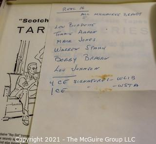 Clifford Evans: Historical Recording: Reel-to-Reel Magnetic Tape: Milwaukee Braves 1963 Spring Training: Warren Spahn; Lew Burdette ,etc. (unverified - presume to be as labeled)