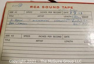 Clifford Evans: Historical Recording: Reel-to-Reel Magnetic Tape: Henry Aaron and Del Crandall 3/7/63 (unverified - presume to be as labeled)