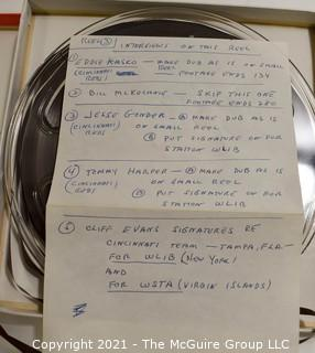 Clifford Evans: Historical Recording: Reel-to-Reel Magnetic Tape: Cinncinatti Red HOF'ers  2/27/63 (unverified - presume to be as labeled)