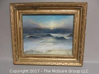 "Seascape; Oil on Canvas, signed lower right, Charles Duncan Baker (12 x 14"")"