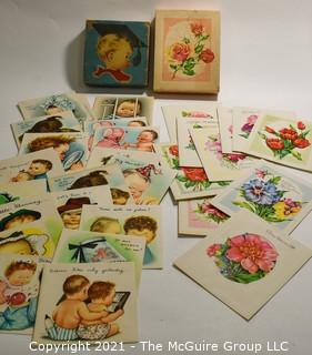 Two (2) Boxes of Unused Vintage Greeting Cards