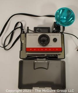 Vintage Polaroid Automatic Camera 104 with Flash Attachment