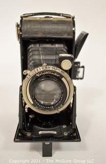 "Vintage 1930's ""Voigtlander Bessa"" Folding Camera with Case"