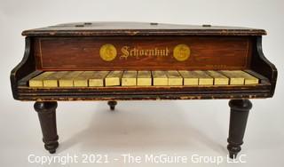 Antique Original Schoenhut Toy Baby Grand Piano 15 Keys