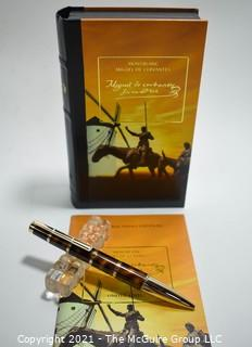 2005 Montblanc Miguel De Cervantes Writer's Edition Ball Point Pen; New in Box with Paperwork.
