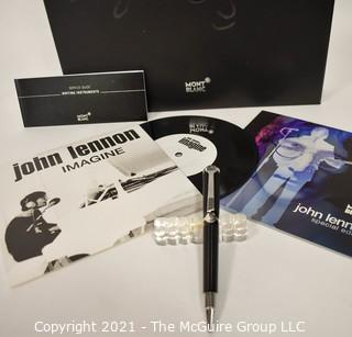 Mont Blanc John Lennon Imagine Special Edition Ballpoint Pen; New in Box with all Inserts. (Note: Description altered 6.24@8:21pm)