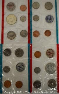 (4) U.S. Mint Coin Sets Sealed; 1968-D; 1969-P; 1969-D, 1968-P