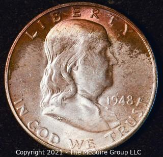 Coin: Silver Franklin Half Dollar: 1948-D