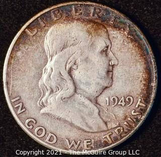 Coin: Silver Franklin Half Dollar: 1949-P