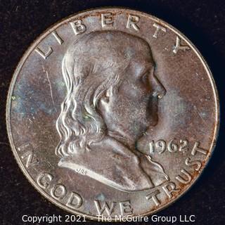 Coin: Silver Franklin Half Dollar: 1962-D