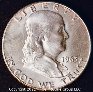 Coin: Silver Franklin Half Dollar: 1963-D