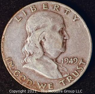 Coin: Silver Franklin Half Dollar: 1949-D