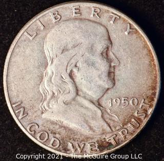 Coin: Silver Franklin Half Dollar: 1950-P