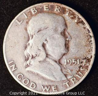 Coin: Silver Franklin Half Dollar: 1951-D