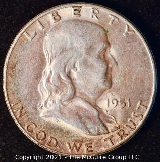 Coin: Silver Franklin Half Dollar: 1951-S