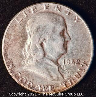 Coin: Silver Franklin Half Dollar: 1952-P