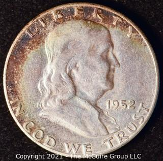 Coin: Silver Franklin Half Dollar: 1952-S