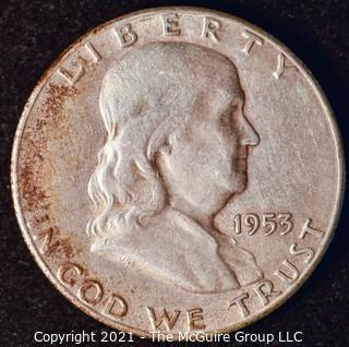 Coin: Silver Franklin Half Dollar: 1953-S