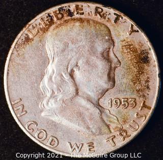 Coin: Silver Franklin Half Dollar: 1953-D