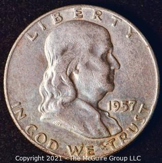 Coin: Silver Franklin Half Dollar: 1957-D