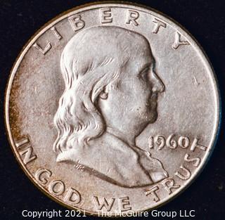 Coin: Silver Franklin Half Dollar: 1960-P