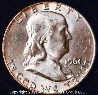 Coin: Silver Franklin Half Dollar: 1961-D