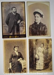 Group of Four (4) Cabinet Card Photographs.