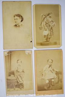 Four (4) Cabinet Cards of Women & Children.