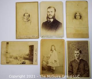 Group of Six (6) Cabinet Card Photographs Including One of Flooded Street. (TMG- renumbered)