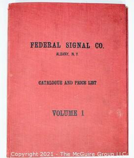 1912 Federal Signal Company Catalogue, Albany NY. Railroad