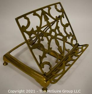 Vintage Brass Easel Style Book Stand