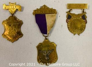 Three (3) Fraternal Organization Medals