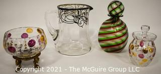 Four (4) Pieces of Art Glass