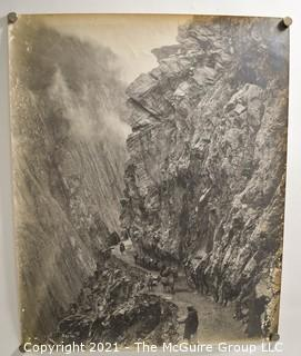 """(2) 9 x 12"""" Black and White Landscape Photos Randolph Bezzant Holmes; stamped Peshawar.  (TMG re-numbered)"""