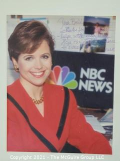 """Unframed Signed Color Photo of Katie Couric, Inscribed photo to Bill Caldwell, U.S. Marine Corp.  10"""" x 13"""""""