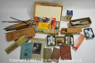 Group of Vintage Grumbacher Artists Supplies