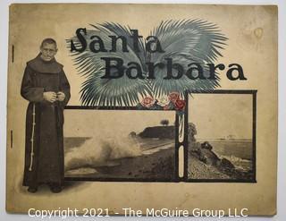 "1907 Antique Souvenir Picture Book of Santa Barbara""The Gem City of the Western Sea""."