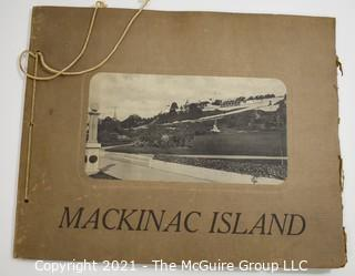Vintage Souvenir Picture Book of Mackinac Island, Michigan, circa 1900; published by L.E. Edwards