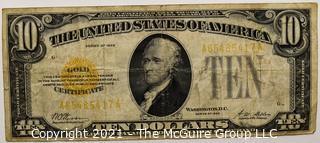 Ten Dollar 1928 Series Gold Certificate