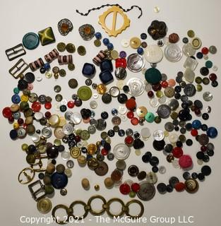Collection of Vintage Sewing Buttons.