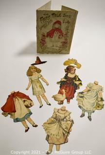 Antique Raphael Tuck & Sons Fairy Tale Paper Doll Set In its Original Envelopes Circa 1894.