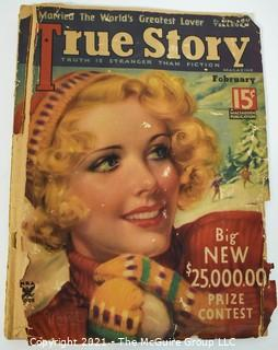 Vintage True Story Magazine Circa 1920's