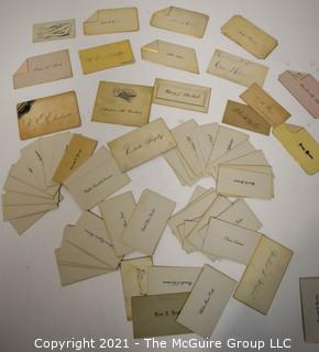 Collection of Victorian Calling Cards