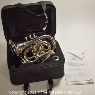 Pocket Trumpet Coronet with Case & Owners Manual, Lightly Used.