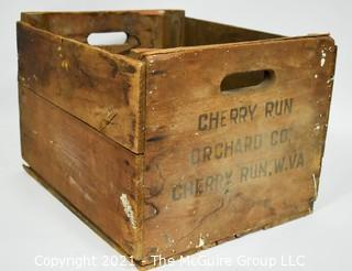 Cherry Run Orchard Co. Wooden Crate; WV