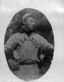 Vintage Baseball Imagery - La Salette (portion of vintage photo post card)
