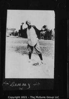 Vintage Baseball Imagery - Catcher 'Sammy' (portion of vintage photo post card)