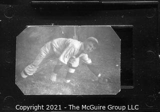 Vintage Baseball Imagery - Catch Left 2 (portion of vintage photo post card)