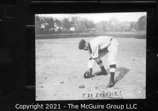 Vintage Baseball Imagery - Catch Right 1 (portion of vintage photo post card)