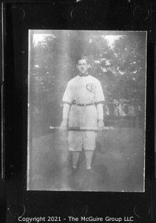 Vintage Baseball Imagery - Bat Front S (portion of vintage photo post card)